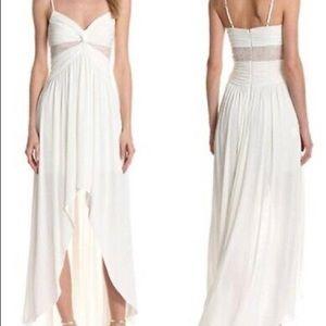 BCBG Max & Cleo Creamy White High Low Maxi Dress